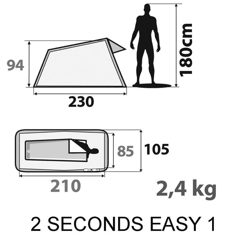 66abea268 barraca 1 pessoa 2 seconds easy quechua - decathlon. Carregando zoom.