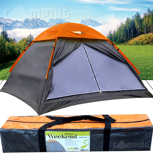 barraca 4 lugares pessoas camping weekend echolife acampar