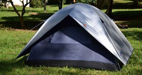 barraca acampamento camping impermeável 4 pessoas+ luminaria