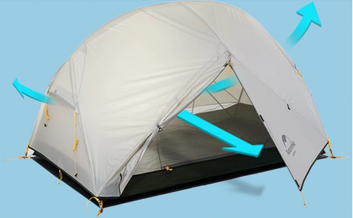 barraca acampamento naturehike mongar purple camada dupla