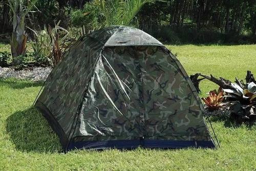 barraca camping camuflada 3 lugares-menor preço! p. entrega