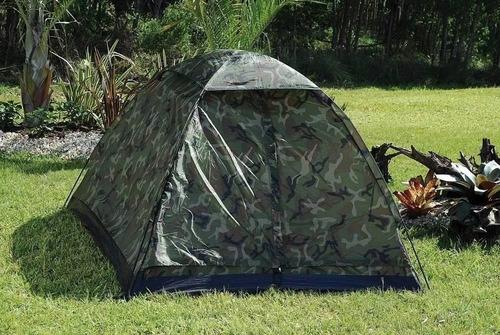 barraca camping camuflada militar 4 lugares