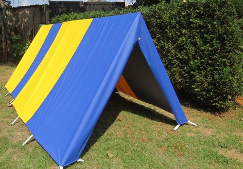 barraca camping canadense 5 lugares c/ avance aberto padrão