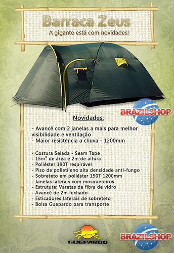 barraca camping guepardo