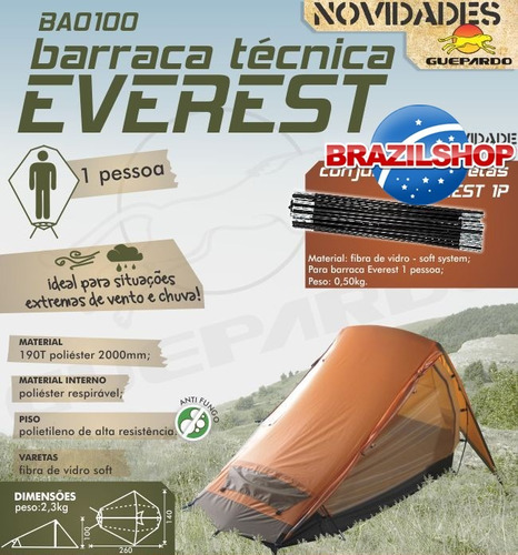 barraca camping guepardo pes