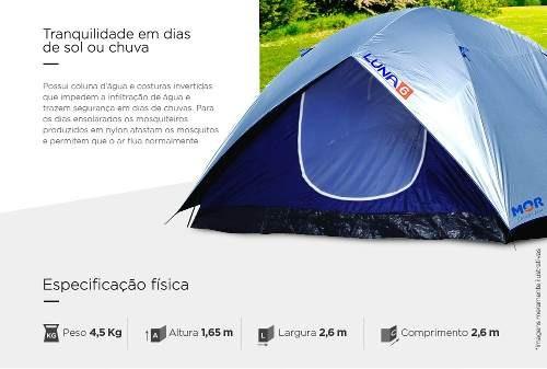 barraca camping iglu luna 6 lugares - mor