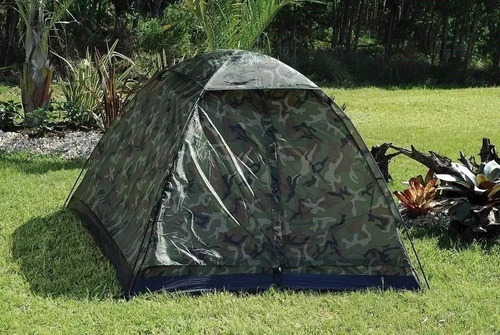 barraca camping pantanal 3 lugares - camuflada militar - mor