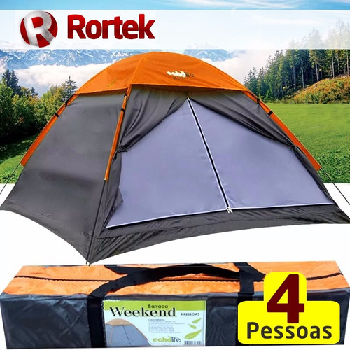 barraca camping weekend 4 pessoas 2,1x2,1x1,3 impermeável fr