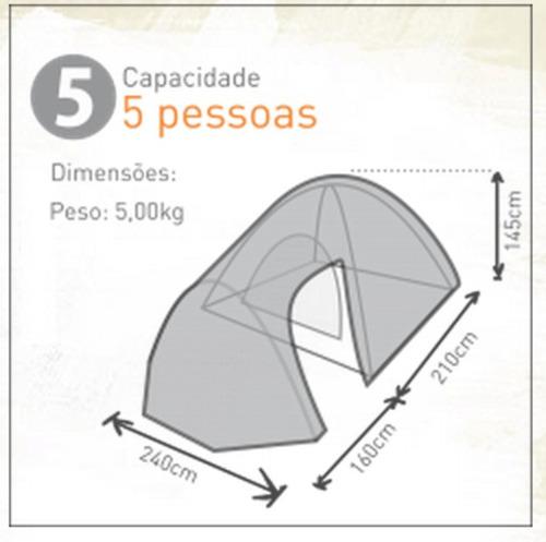 barraca camping zeus 5 pessoas-1500mm- guepardo- c/ varanda
