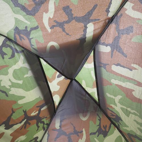 barraca de camping 3 pessoas camuflada porta com mosquiteiro
