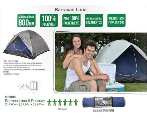 barraca de camping iglu luna para 6 pessoas mor