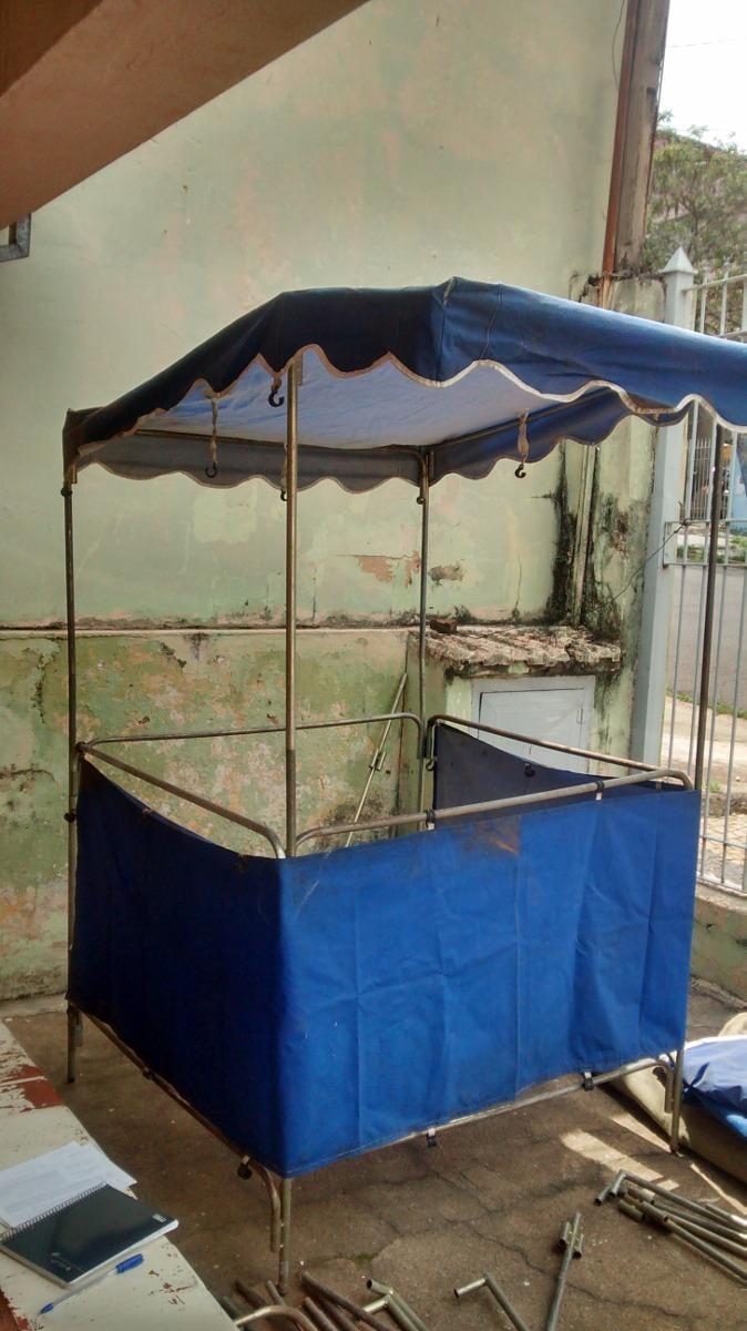 Barraca De Feira Tipo Artesanato Azul 1,20 M - R$ 180,00