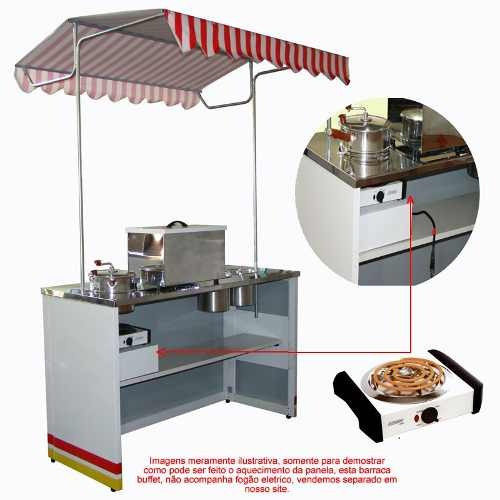 barraca de pipoca modelo 2018 - buffet +brinde panela pipoca