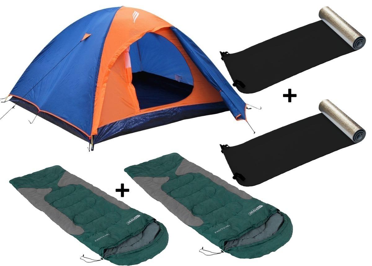 3a8c78b45 barraca falcon 3p +2 sacos de dormir +2 isolante térmico ntk. Carregando  zoom.