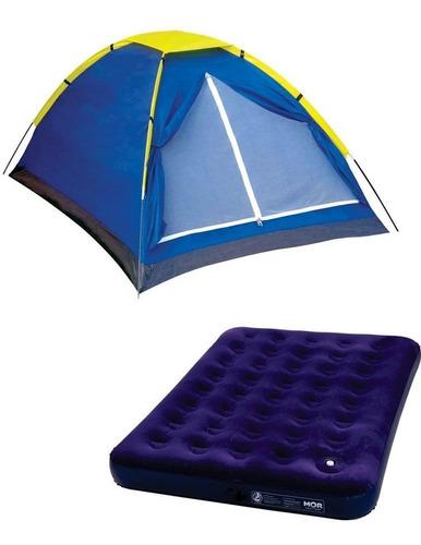 barraca iglu 4 lugares c/ colchão de casal + 2 lanternas