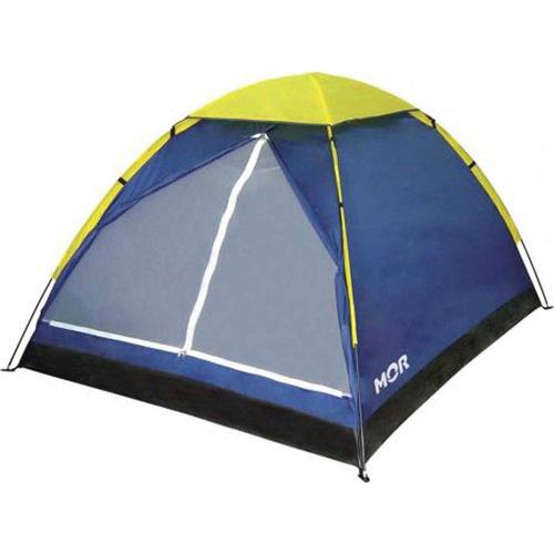 barraca iglu 4 pessoas azul 2,10x2,10x1,30m mor