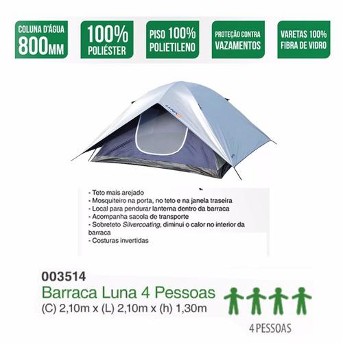 barraca iglu luna 4 lugares 210 x 210 x 130 promoção