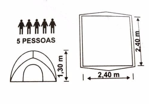 barraca iglu luna 5 pessoas - mor