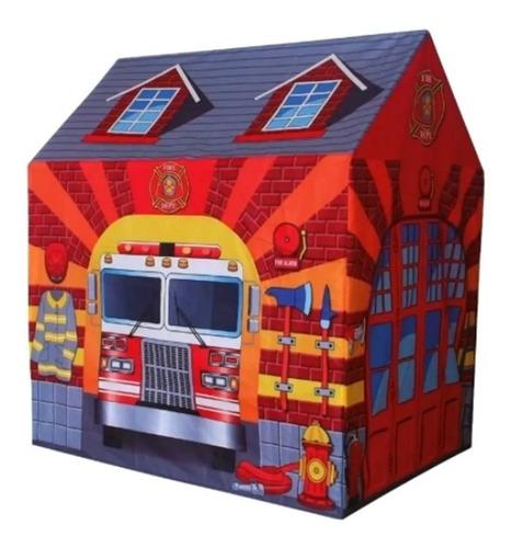 barraca infantil menino tenda cabana bombeiro grande 105cm