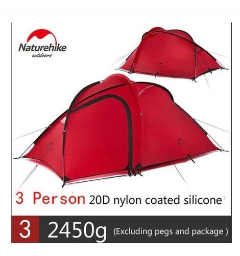 barraca naturehike hiby 3 pessoas tenda tecido ultraleve