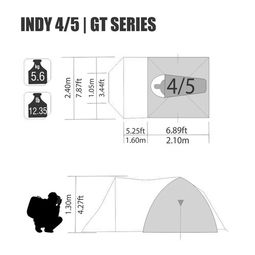 barraca nautika indy gt 4/5 ventilada com teto aluminizado