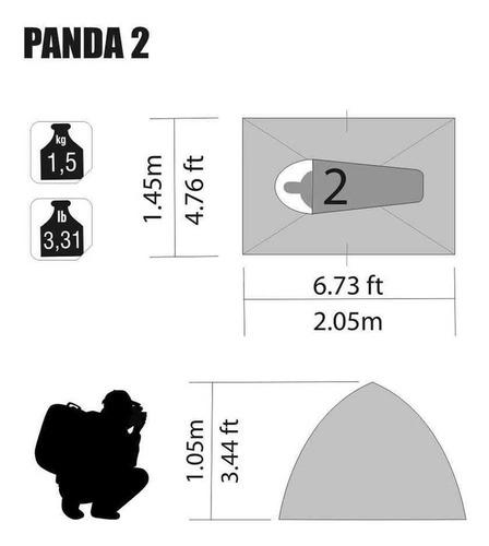 barraca nautika panda 2 pessoas 600mm fácil montagem