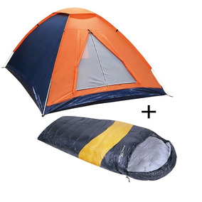 2c750b015 Kit Camping Barraca 2 Cadeiras 2 Sacos Dormir Lanterna Bolsa - Camping no  Mercado Livre Brasil