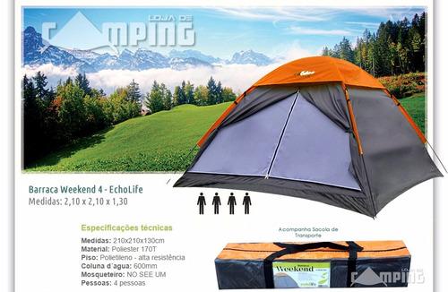 barraca pessoas camping echolife
