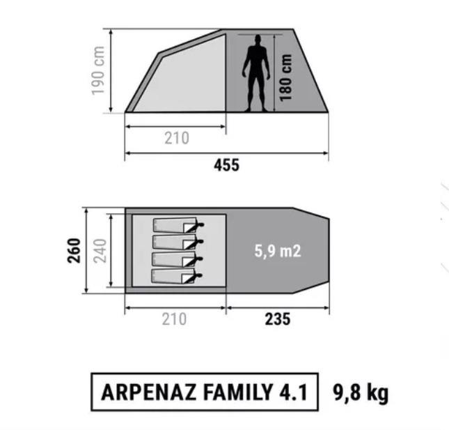 1f7bea095 Barraca Quechua Arpenaz 4.1 Familia - R  840