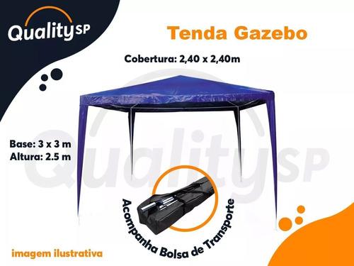 barraca tenda gazebo praia camping 2,4x2,4 pesca eventos