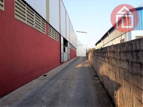 barracão comercial para locação, centro industrial raphael diniz, bragança paulista. - ba0081