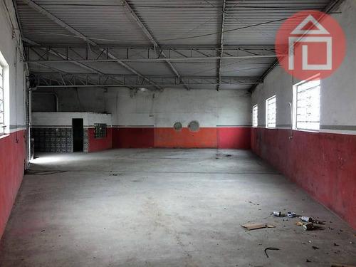 barracão comercial para locação, lavapés, bragança paulista. - ba0043