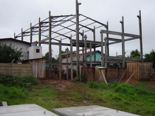 barracão, galpão, prémoldado, muros, treliça metalica