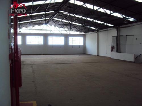 barracão industrial para locação, parque rural fazenda santa cândida, campinas. - ba0035