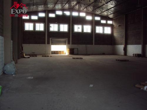 barracão industrial para locação, parque rural fazenda santa cândida, campinas. - ba0037