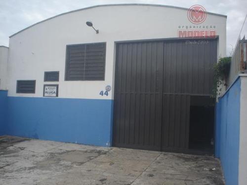 barracão para alugar, 250 m² por r$ 3.000/mês - jardim caxambu - piracicaba/sp - ba0053