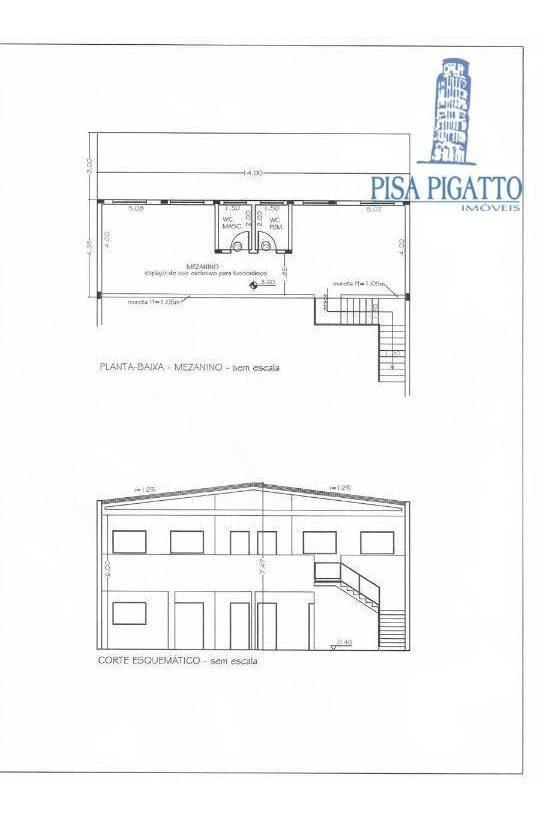 barracão para alugar, 355 m² por r$ 7.000/mês - parque dos servidores - paulínia/sp - ba0079