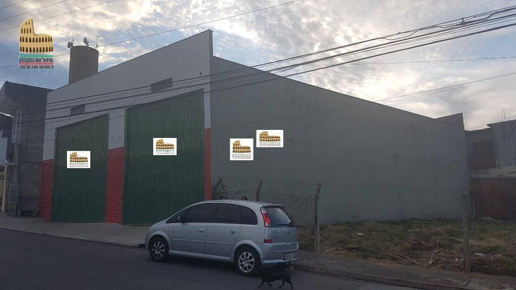 barracão para alugar, 440 m² por r$ 4.400/mês - wanel ville - sorocaba/sp - ba0030