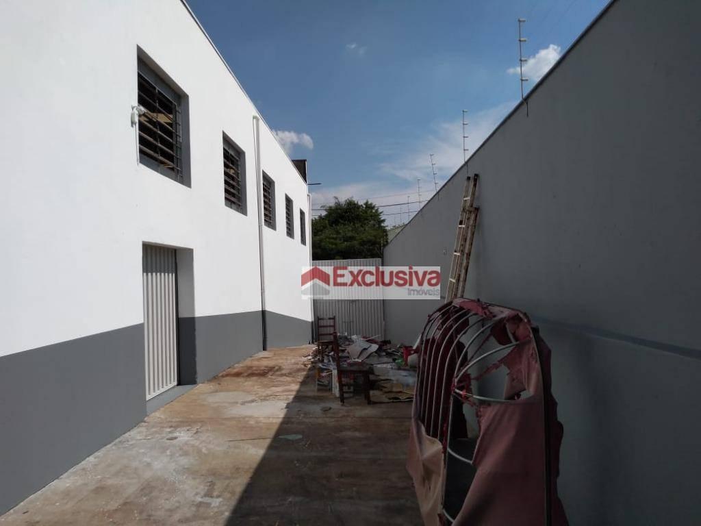 barracão para alugar, 440 m² por r$ 8.000,00/mês - santa cecília - paulínia/sp - ba0020