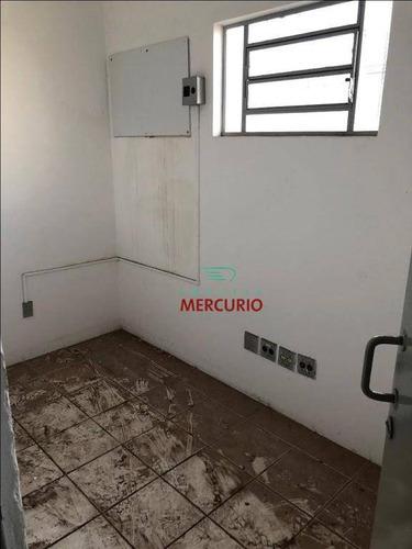 barracão para alugar, 491 m² por r$ 4.000/mês - jardim contorno - bauru/sp - ba0098