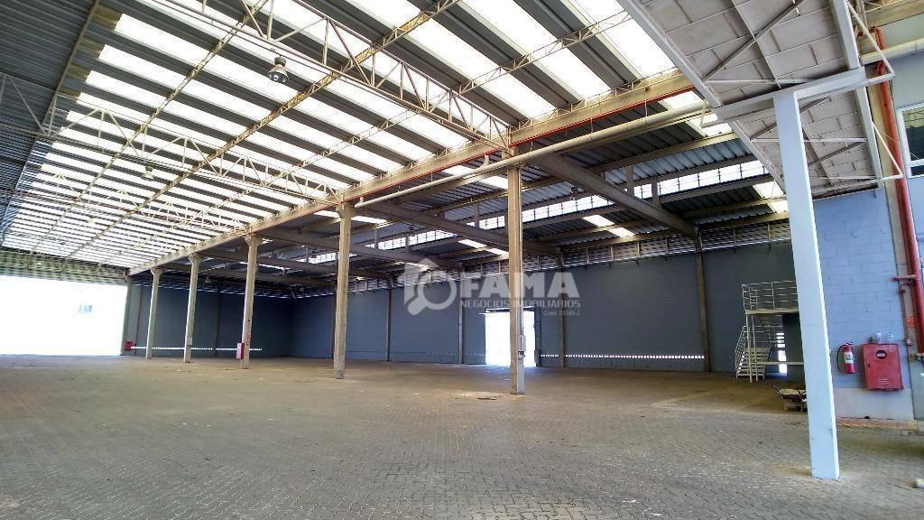 barracão para alugar, 5600 m² por r$ 82.000,00/mês - betel - paulínia/sp - ba0039