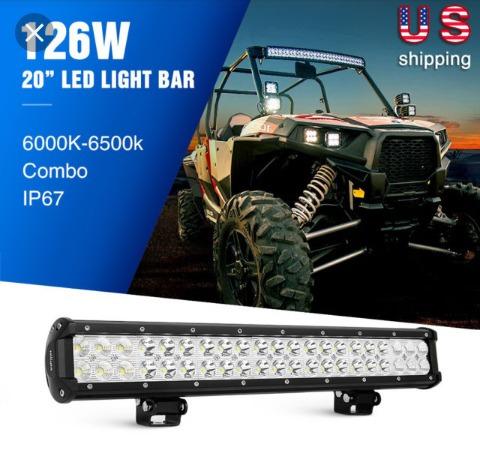 barra,faros,luces led 20 pulgadas combinada 126w, 12600lm,