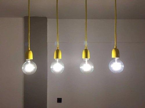 barral 80x9cm de techo 4 luces amarillo