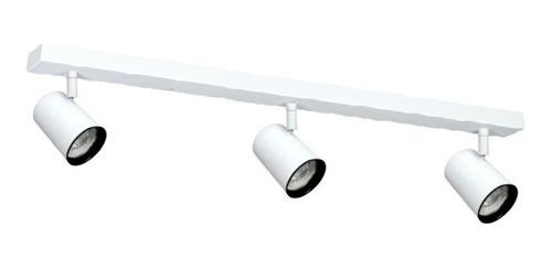 barral aplique riel 3 luces gu10 led minimalista 60cm