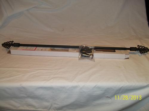 barral cortina metal 122 cm puntero pvc kit completo