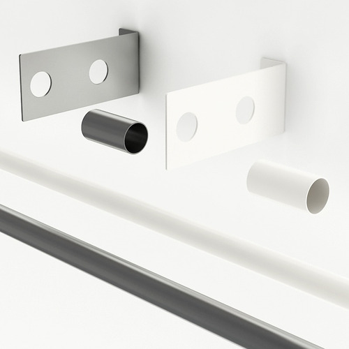 barral de acero p/cortina temacasa de 1.40m p/presillas 22mm