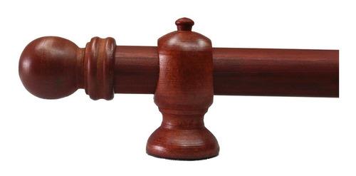 barral de madera 1.00 mts largo color cedro con accesorios