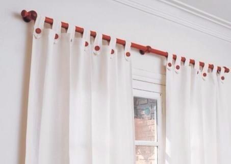 barral de madera 22mm cortina completo 1.20 color cedro