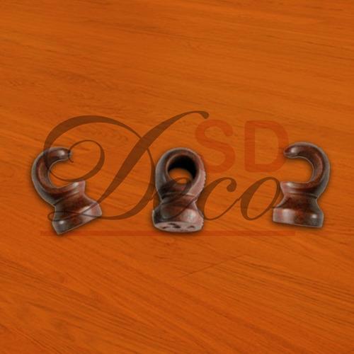 barral de madera soportes de 22 mm cerrado abierto - sd deco