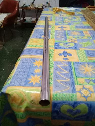 barral de metal plateado 103 cm x 3 cm diametro